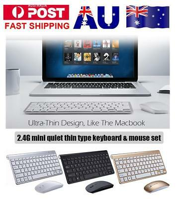 2.4GHZ Ultra-thin Wireless Keyboard and Mouse Combo for Apple PC Windows/7/8/10