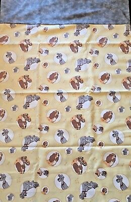 Disney Lady and the Tramp Handcrafted Pillow Cases 2 Pack Standard Size!