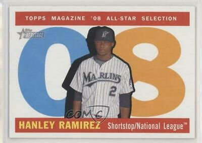 2009 Topps Heritage #488.1 Hanley Ramirez (Miami Marlins Uniform) Miami Card