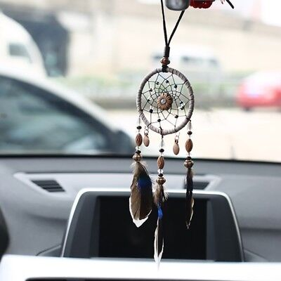 Mini Cars Dream Catcher With Feathers Bead Hanging Ornaments Wall Decor Ornament