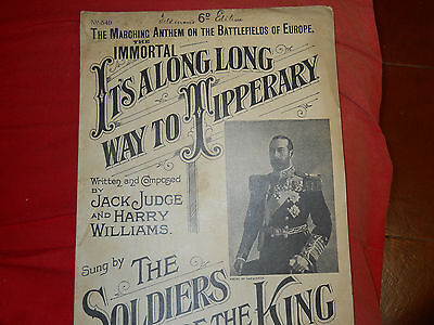 spartito sheet music  IT'S A LONG LONG WAY TO TIPPERARY   Judge WW1