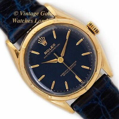 Rolex Oyster Perpetual,14Ct, 1952, Blue Dial, Super Oyster - Immaculate!