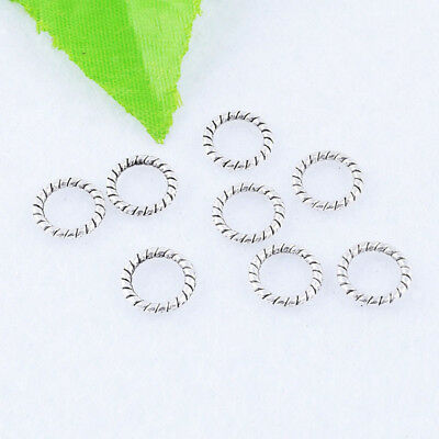 Metal Tibetan silver Round Close Ring Charm Spacer Beads Popular Finding 10mm