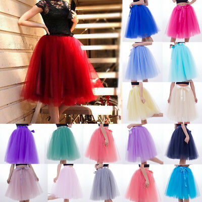 dac77f88cf90 7 Layer Tulle Skirt Vintage Dress 50s Rockabilly Tutu Petticoat Ball Gown  Skater