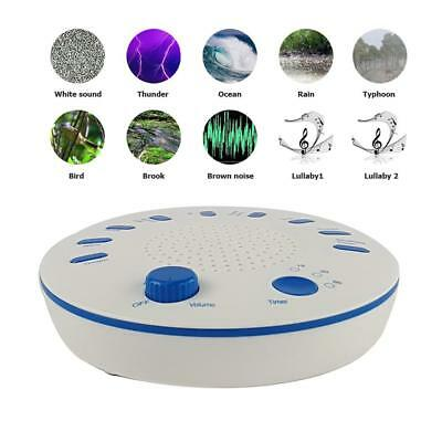 Baby Professional Therapy Sound Machine White Noise Sleep Soother relax u9NK