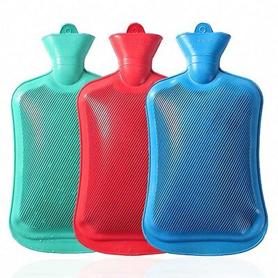 Rubber HOT WATER BOTTLE Bag Warm & 2L Knitted Cover Case Warm Keeping Coldproof
