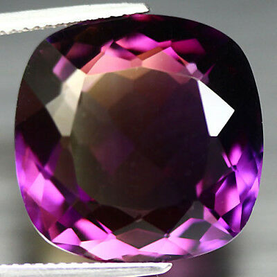 21.29 Ct Natural! Purple & Golden Bolivia Ametrine Cushion