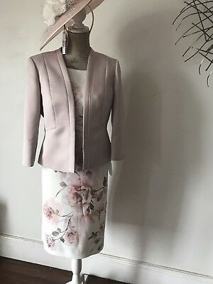 Jaques Vert Stunning Blush Coloured Outfit Mother Of The Bride Nwt Size 14