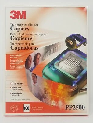 """3M PP2500 100 SHEETS Transparency Film For Copiers 8.5"""" x 11"""" -"""