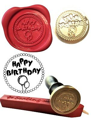 Happy Birthday Wax Stamp Seal Starter set KIT or get Coin only XWS039B/XWSC077