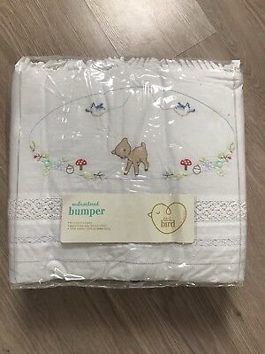 Mothercare Little Bird  Embroided Cot Bumper By Jools Oliver. New.