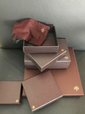 5 Authentic Mulberry empty boxes of various sizes. all great condition.