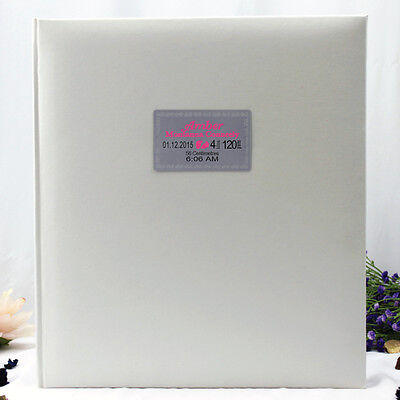 Baby Birth Details 500 Photo Album - White - Made to Order