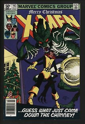 X-Men 143 John Byrne's 'alien' Story Stunning Near Mint.  White Pages Cents Copy