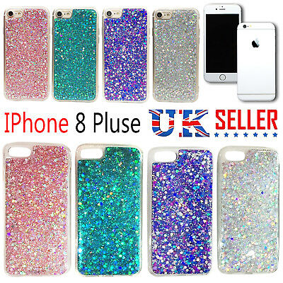 iPhone 8 Plus + Luxury Bling Glitter Shockproof Soft Silicone Sparkle Case Cover