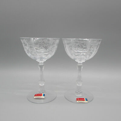SET OF TWO - Fostoria Crystal NAVARRE Saucer Champagne Glasses