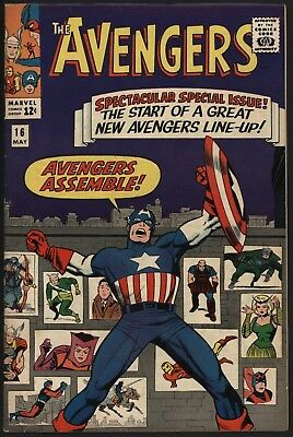 Avengers #16 The Classic Cover! Very Glossy Cents Great Page Quality Kirby Art