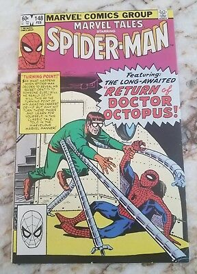 Marvel Tales #148 Fn+ Reps Amazing Spider-Man 11 Doc Ock 1 App 1982 Comic