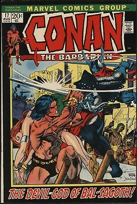 Conan The Barbarian #17  Classic Gil Kane Art White Pages! Tough To Get !