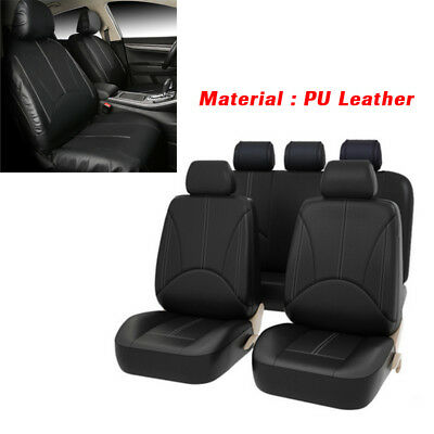 PU Leather Car Seat Cover Full Set Front Rear Seat Cushion Mat Protector Amazing