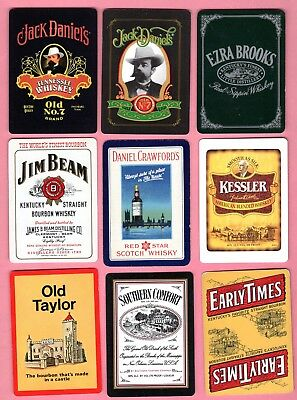 Single Swap Playing Cards WHISKEY ADS JACK DANIELS ETC 1 IS VINTAGE LIQUOR WIDE