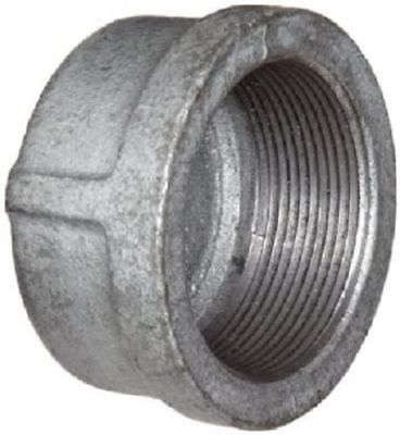 """LOT OF FIVE(5) 1/2"""" GALVANIZED MALLEABLE IRON CAP fitting pipe npt"""