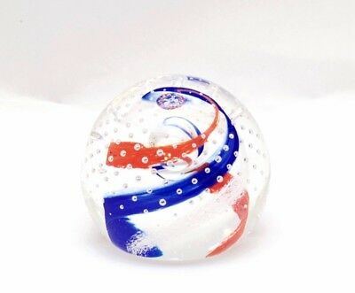 Paperweight Art Glass Caithness Scotland Whirlpool Michael Dolton Event Special