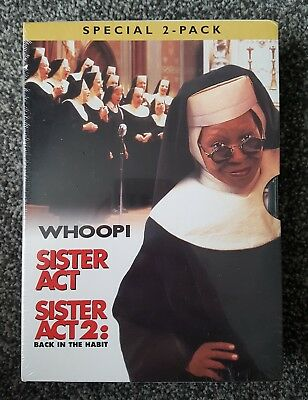 Sister Act / Sister Act 2  Back In The Habit dvd Whoopi Goldberg New & Sealed r2