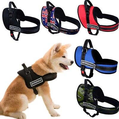 Large Dog Pet Puppy Soft Padded Harness Vest Adjustable Walk Out No Pull Collar