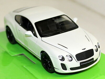 Nex 1/24 Scale 24018W Bentley Continental Supersports White Diecast model Car