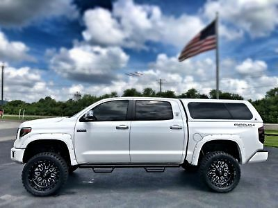 "Toyota Tundra PLATINUM LIFTED FLARES 7"" PRO-COMP 22"" FUEL STROKE PLATINUM*LIFTED*LEATHER*FLARES*CREWMAX*4X4*V8*35"" TOYOs*22"" FUELS STROKES*FLA"