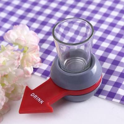 New Universal Spin The Shot Drinking Game Shot Glass Spinner Home Tool 6L