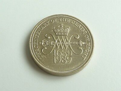 1989 £2 Two Pound Coin Claim Of Rights Nice Condition