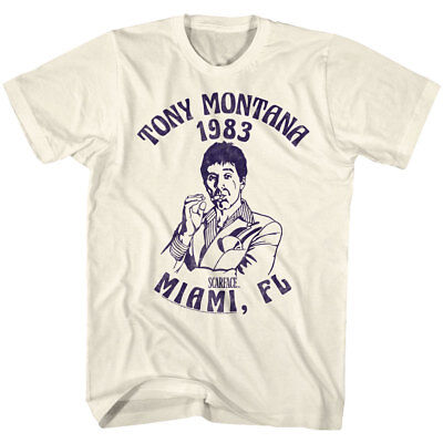 Scarface T-Shirt Adult New Movie Tony Montana Pacino 1983 Miami in SM - 5XL