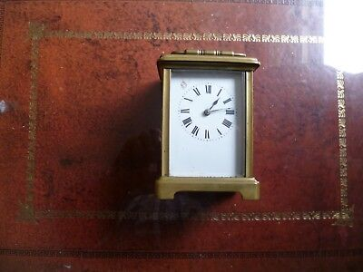 French Brass Carriage Clock Spares or Repairs
