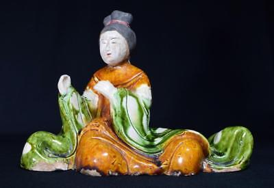 Ancient Chinese Tang Dynasty Statue Sancai Glaze c618-907 AD, with Provenance