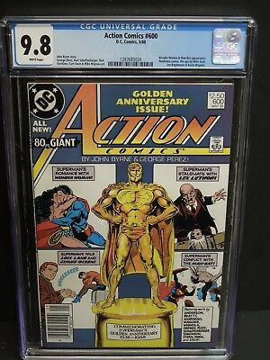 Dc Action Comics #600 1988 Cgc 9.8 White Pages Newsstand Upc John Byrne Superman