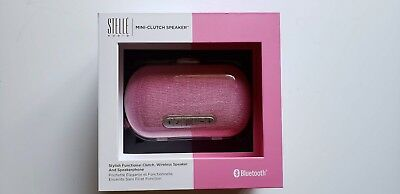 Stelle Audio Mini Clutch Bluetooth Speaker (Metallic Pink)