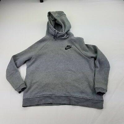 Nike Funnel Hoodie Womens Large Pockets Gray