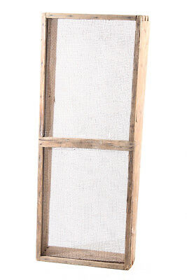 Old Pass-Through Sieve 89x35x12, 5cm Garden Sieve Soil Sieve Impact Grid Vintage