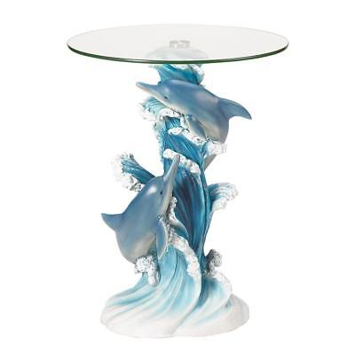Playful Dolphins Accent Table - NIB