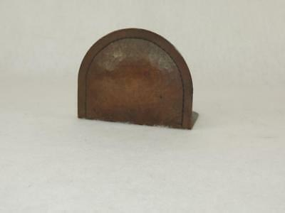 OLD Authentic SINGLE bookend by ROYCROFT Hammered Copper Dome Top SIGNED