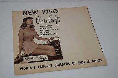Vintage 1950 Chris Craft Boat Sales Brochure Publication  - Water Ways