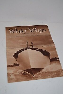 Vintage 1930's Chris Craft Boat Sales Brochure Publication  - Water Ways