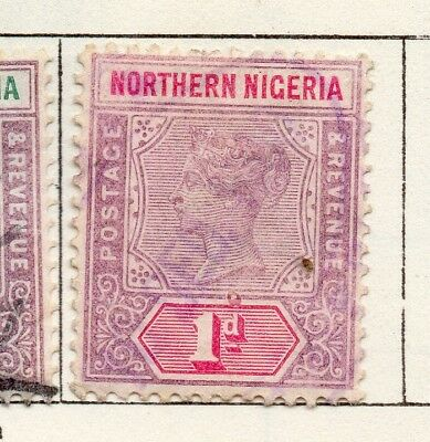 Northern Nigeria 1900-02 Early Issue Fine Mint Hinged 1d. 269057