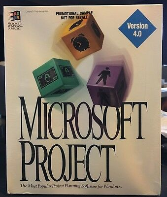 "Sealed Microsoft Windows Project Planning Software Version 4.0 3.5"" Floppy Disks"