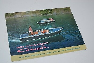 Vintage 1964 Chris Craft Corsair Boat Sales Catalog