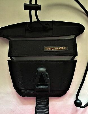Travelon Adjustable Bag Bungee +Suitcase to Wheeled Luggage, Secure Hands Free
