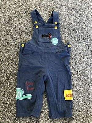 M&S Marks and Spencer Baby Dungarees 6-9 months nursery weaning clothes