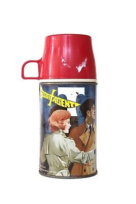 Vintage 1968 Secret Agent Thermos Lunchbox King Seeley Old Kid's Metal 2829